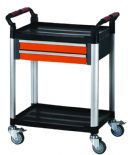 2 Tier Proplaz plastic shelf trolley 2 drawers